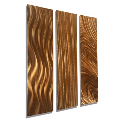 contemporary copper metal home decor abstract wall