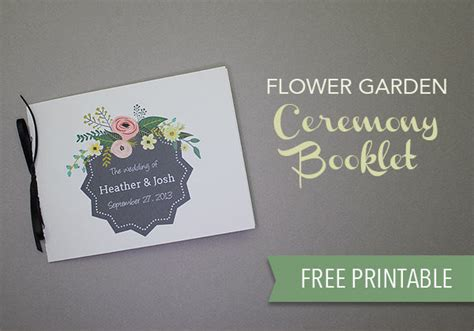 Garden Wedding Brochure by Flower Garden Ceremony Booklet Pictures Photos And
