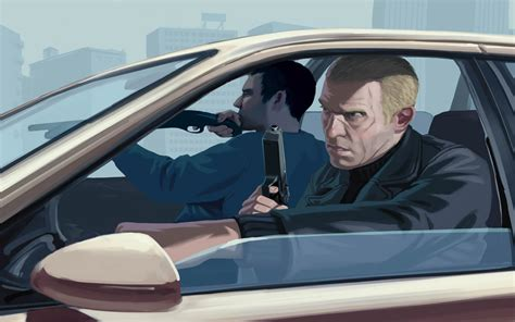 dive by drive by grand theft auto 4 wallpaper