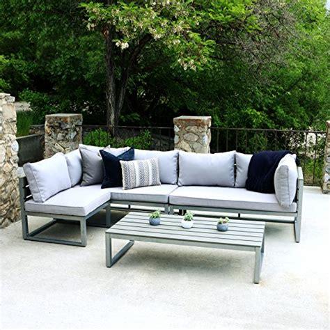WE Furniture All Weather 4 Piece Patio Conversation Set