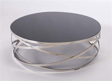 Table Basse Ronde Acier by Table Basse Ronde Avec Acier Chrom 233 Et Verre Fum 233 Design