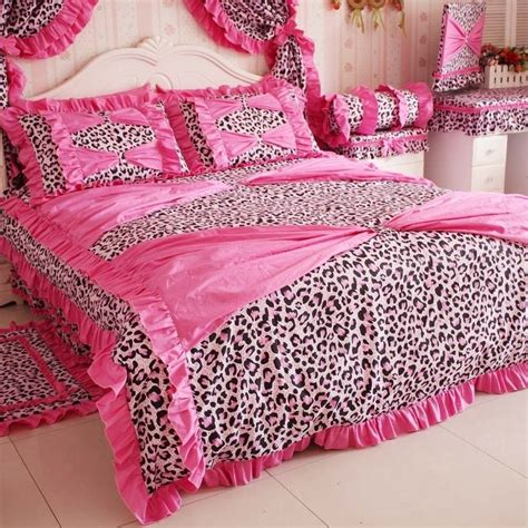 pink cheetah comforter set fashion girls pink leopard print bedding set girls sexy