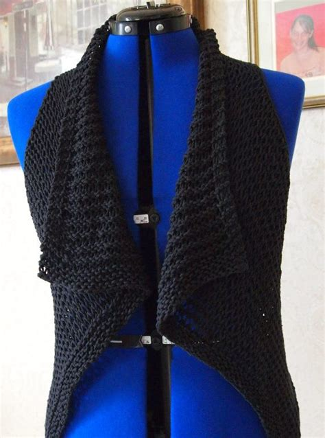 pattern for a simple vest instant download pdf hand knitting pattern oh so easy