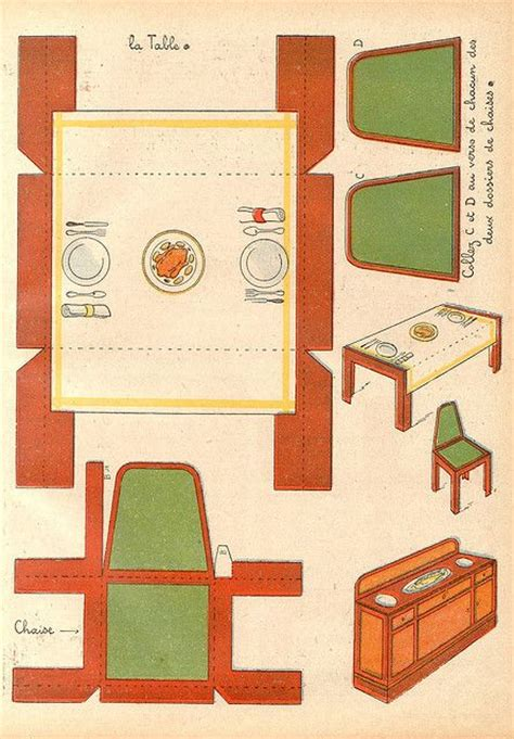 dolls house furniture templates buffet table chairs template 2 c o patricia m on