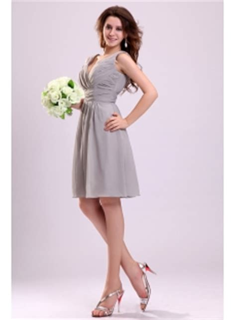 Bridesmaid Dresses For Small Bust - pretty gray chiffon bridesmaid dress for large bust 1st