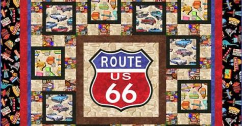 Route 66 Quilt Pattern by Get Your Kicks On Route 66 Fabric Quilt Kit Complete With