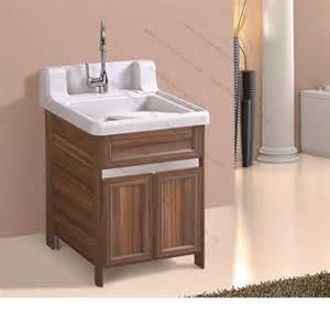 Cabinet stainless steel laundry tub cabinet vessel sink vanity combo