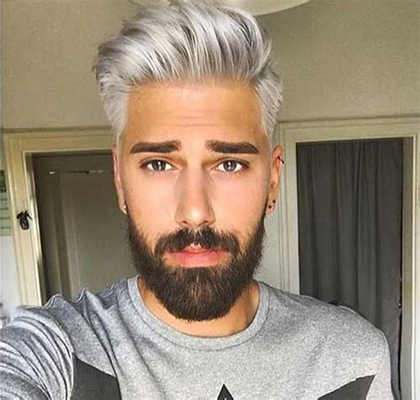 mens grey haircuts grey hair color on coolest guys on planet mens