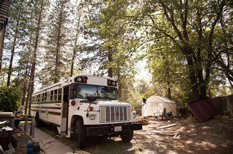 tiny house school bus school bus turned tiny house diy