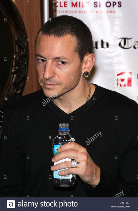 chester bennington in attendance for linkin park autograph
