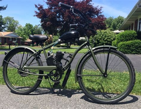 80cc Motorized Bicycle by Quot The Patriot Quot 66 80cc Engine Stretch Cruiser Bike