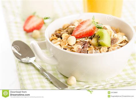 Ejuice Matjan Breakfast Berry Cereal Milk healthy breakfast with muesli cereal with fruits berries nuts stock image image 29728881