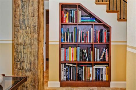 built in bookshelves stairs photo page hgtv