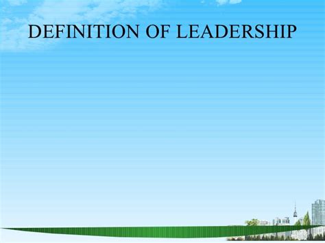 Mba Leadership And Management Meaning by Definition Of Leadership Ppt 2 Bec Doms