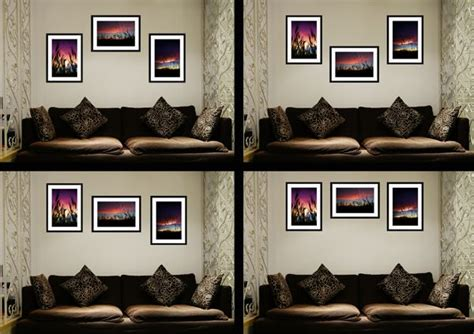 how to hang multiple pictures hanging a group of 3 pictures couples engagements pinterest
