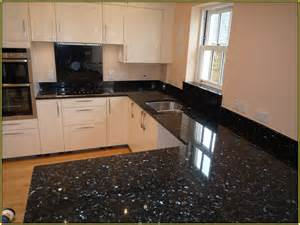 How To Clean Cherry Kitchen Cabinets blue pearl granite with white cabinets home design ideas