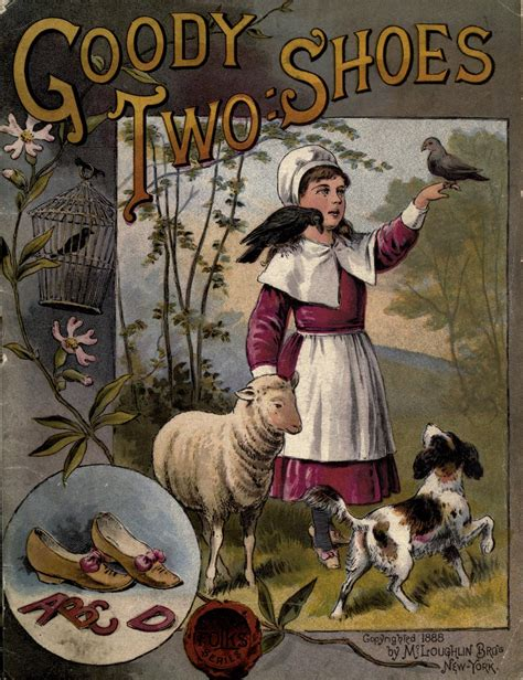 goody two shoes vintage ephemera illustrated children s book cover