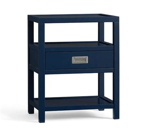 Pottery Barn Lonny Bedside Table In Navy Blue 22 Quot W X 16