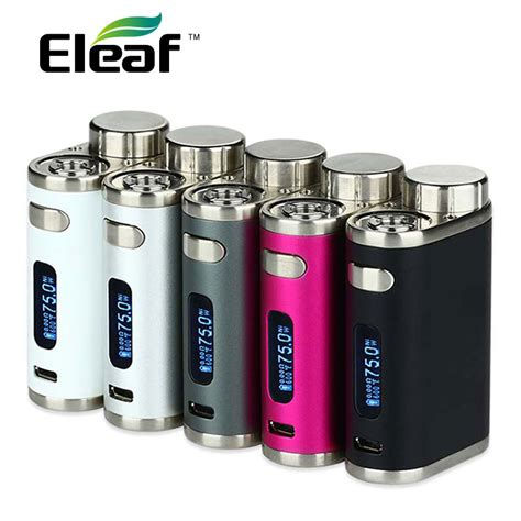 Istick Pico Mod Only Black Mod Vape Vapor original 75w eleaf istick pico tc box mod vape vaporizer temp mod e cig no 18650 battery