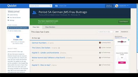 quizlet tutorial video quizlet tutorial 7 adding students to classes youtube