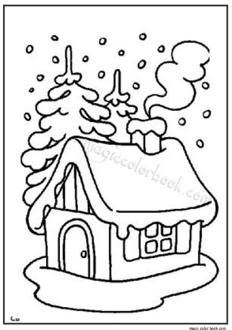 coloring pages of winter houses winter house coloring page