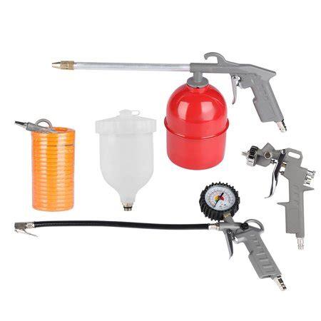 dilwe 5pcs air compressor accessories spray gun inflator air gun hose spray paint cleaning
