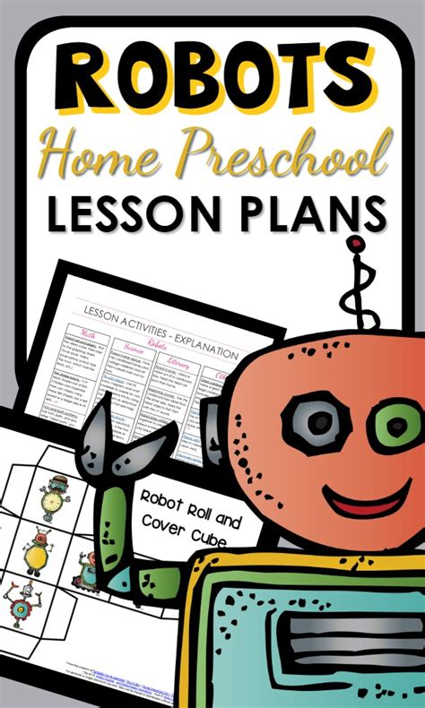 home preschool lesson plans robot theme home preschool lesson plan home preschool 101