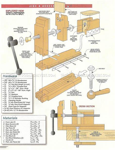 bench vise plans diy bench vise woodarchivist