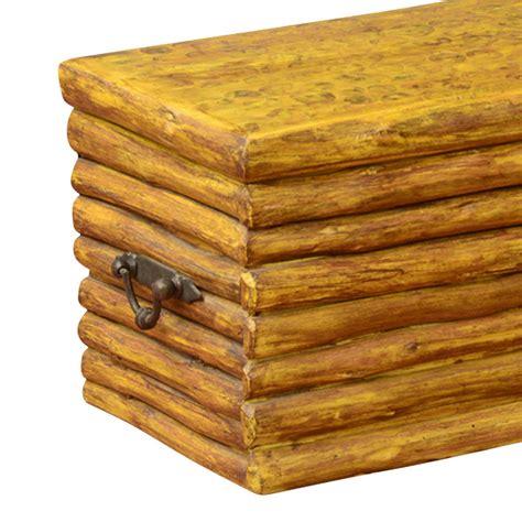log cabin coffee table log cabin hardwood rustic coffee table chest