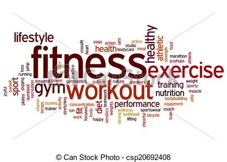 Kaos Fitness World Graphic 6 stock illustration of fitness word cloud fitness concept