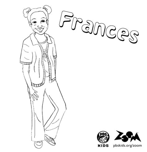 zoom coloring page zoom printables frances s coloring page pbs kids