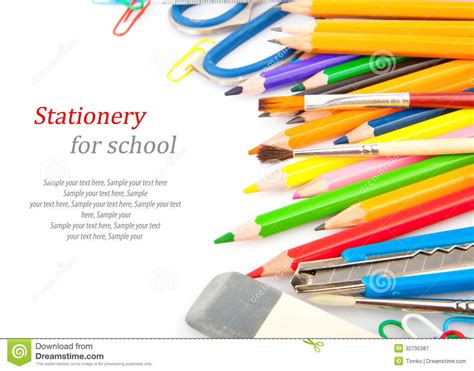 for school stationery for school royalty free stock photography