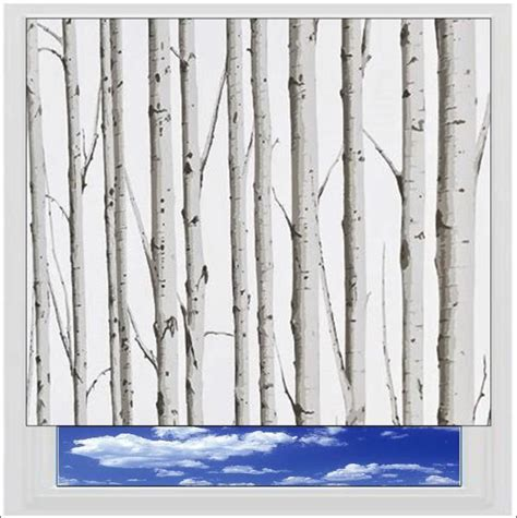 tree pattern roller blinds woodland silver birch roller blind printed and