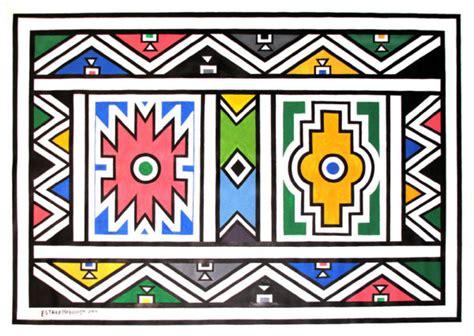 ndebele african border pattern art 2 stock vector esther mahlangu