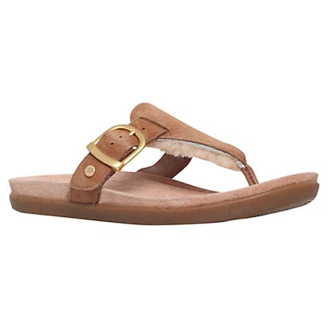 ugg slippers flip flops sheepskin buy ugg vessa sheepskin toe post flip flops lewis