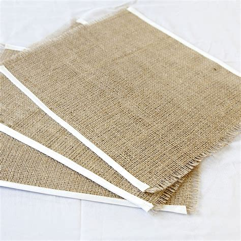Table Mats by Set Of Four Satin Edged Hessian Table Mats By Baloolah