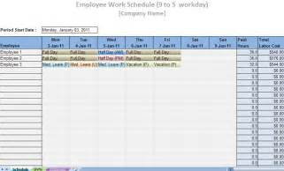 Free Printable Work Schedule Template Free Work Schedule Template Printable Galleryhip Com
