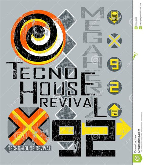 house music posters techno house music poster stock photos image 20554563