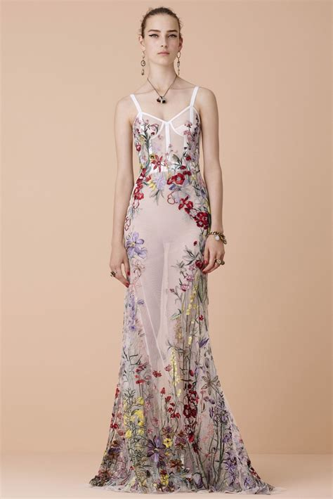 Flower Dress By Twinies Store mcqueen resort 2016 fashion show