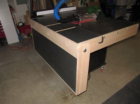 table saw out feed tables ve needed an outfeed table on