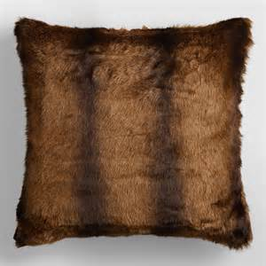 faux mink fur throw pillow world market