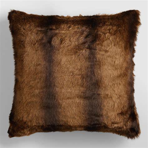 Mink Pillow by Faux Mink Fur Throw Pillow World Market