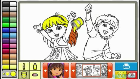 nick jr coloring games gamesworld dora and diego dora and firends episode nick jr coloring