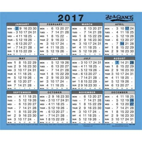 Year At A Glance Calendar Year At A Glance Calendars Business Objectives Students