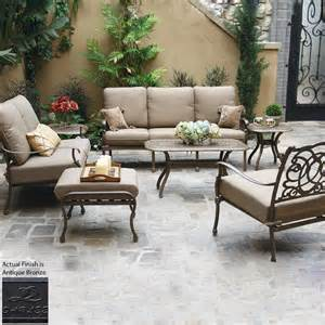 shop darlee florence 7 aluminum patio conversation set at lowes