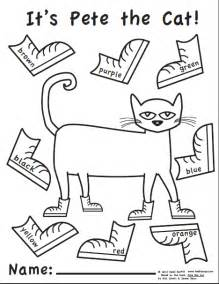pete the cat coloring page elementary methods real edition october 2012