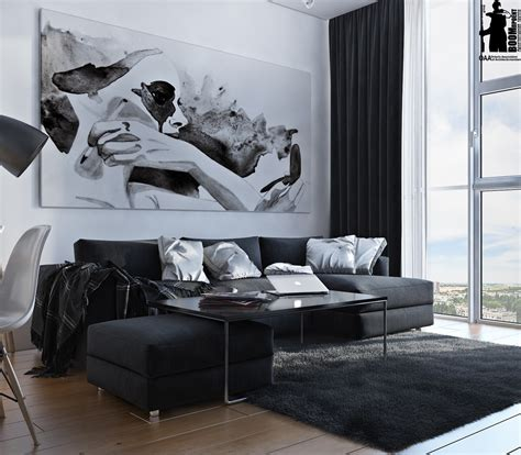 monochrome interior design monochromatic living room colors idea combined with wooden