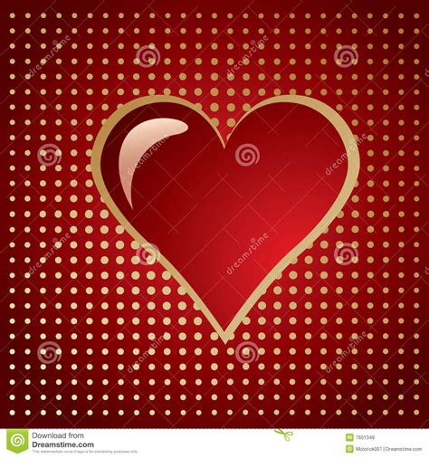 heart gradient pattern red golden heart on a gradient halftone royalty free stock