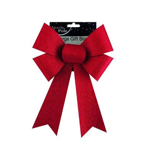 large red christmas glitter bow buy online at qd stores