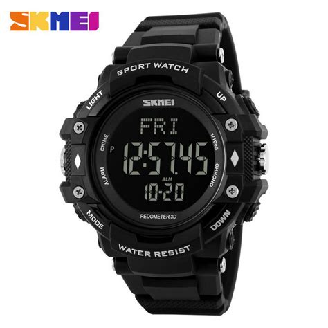 New Arrival Skmei S Shock Pedometer Sport Dg1112s Original skmei 1180 multifunction pu band digital sports